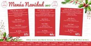 Menú Navidad La Vestida 2017